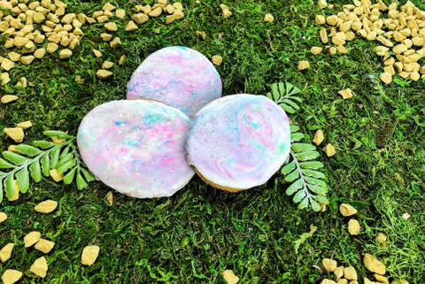 opal sugar cookies on jungle background