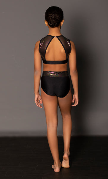 Tiffany Rose - Dominion Crop Top Set - Black - SALE