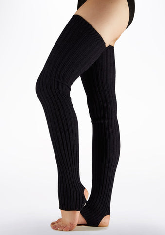 Intermezzo Stirrup Leg Warmers - Black