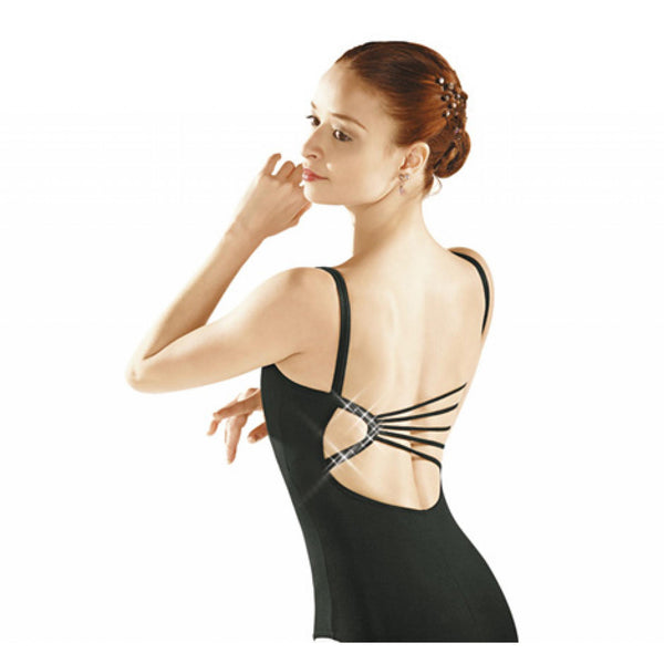 So Danca Diamante Back Leotard - Black