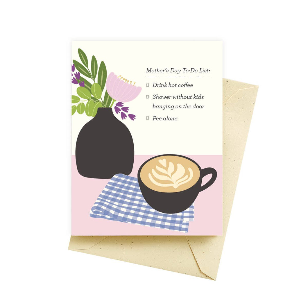 To Do List Mothers Day Card