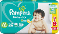 Pampers Baby Dry Diapers Medium (52 diapers)