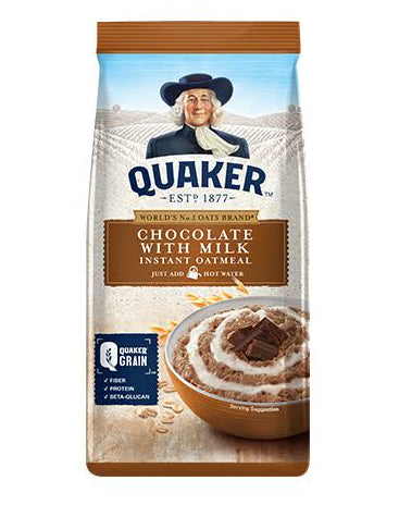 Quaker Chocolate with Milk Instant Oatmeal 500g