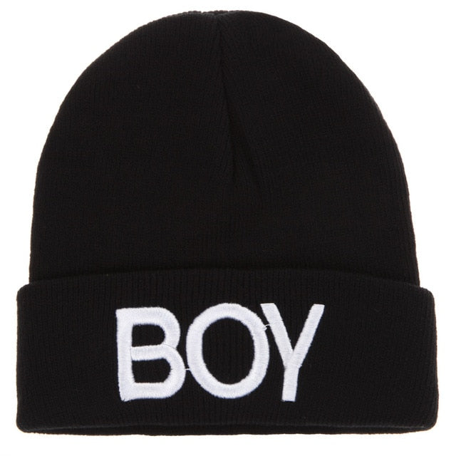 Fashion Children Hats Kids Letters Boy Beanie Caps Winter Warm Ski Cotton Knit Woolen Skull Hats For Boys Girls Christmas Gifts