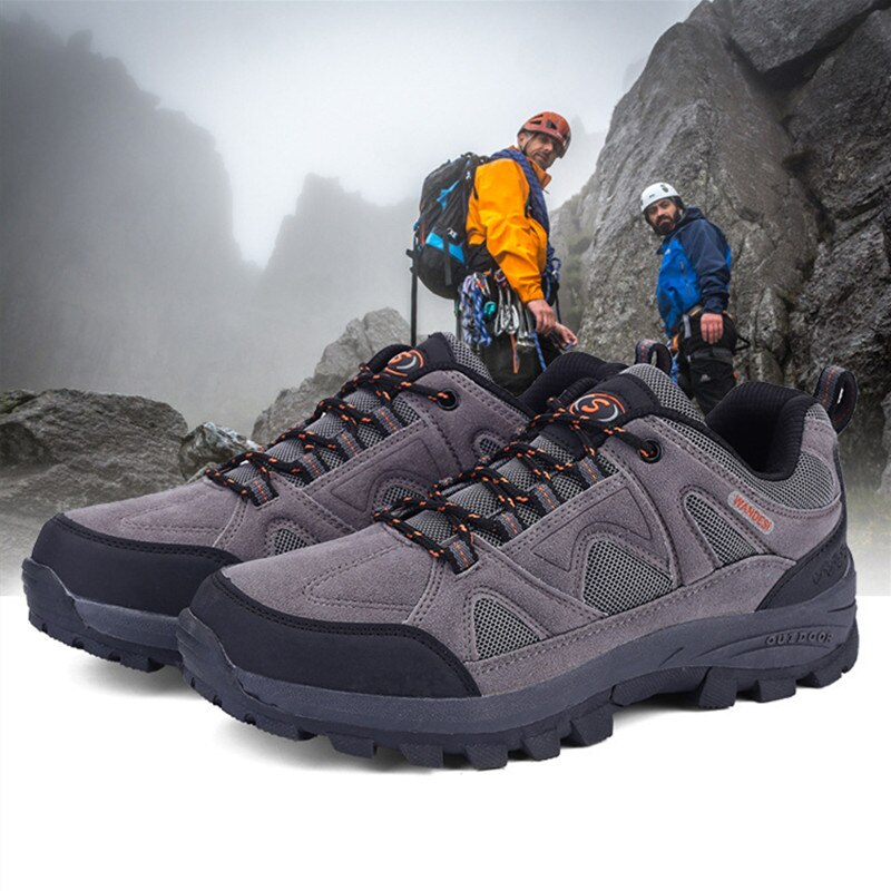 Men Camping Training Outdoor Sport Trail Hiking climbing Shoes Waterproof Mountaineer Walking Anti-Slip Climbing Trip Sneaker