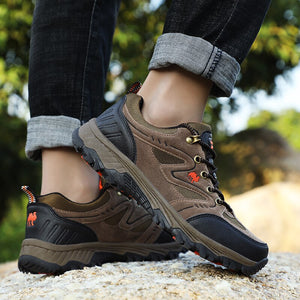 Men climbing Shoes Climb Original Cow Leather Air Mesh Breathable Trip Durable Trekking Adventure 7 Colors Sneakers 47
