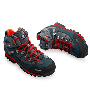 climbing Hiking Shoes Original Men Cow Leather Waterproof Trip Durable Climb Trekking Adventure 3 Colors Sneakers 46
