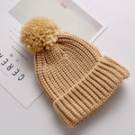Baby Toddler Knitted Hat Winter Infant Pompom Cap Boy Girls Crochet Beanie Knit Cap Kids Children Cute Hairball Hats