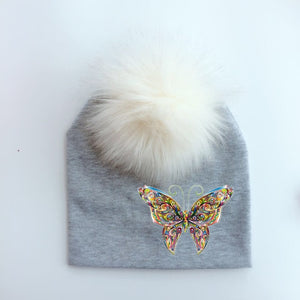 winter fashion animal butterfly unicorn toddlers infant bonnet baby hat for boys and girls travel hat cap for baby children