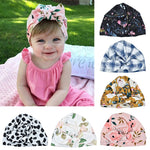 Hot Sale Cute Print baby Hats Thermal Caps For Infant Newborn Kid Unisex Stylish Fashion Cotton Flower Printed Cap For Toddlers