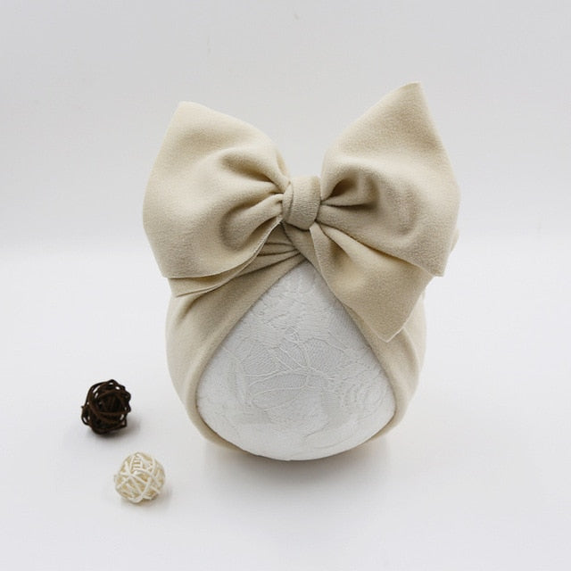 Cotton Baby Hat Newborn Baby Infant Baby Cap Newborn Baby Beanie Top Bow Knot Newborn Photography Props Baby Turban