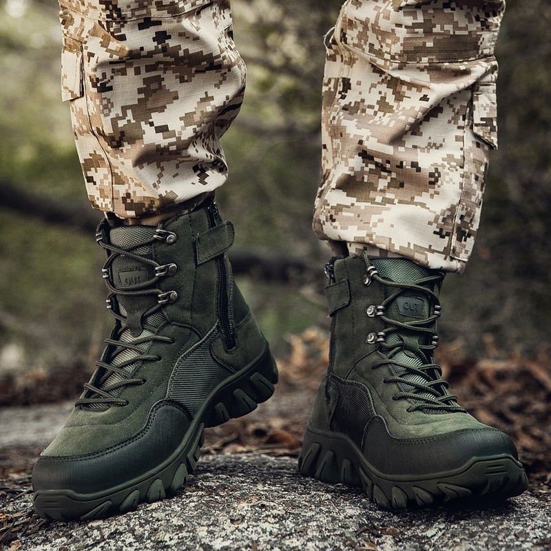 Outdoor climbing Shoes Camping Mountain Climbing Boots Trekking Sneakers men Tactical Boots Army Boots Mens Military Desert shoes