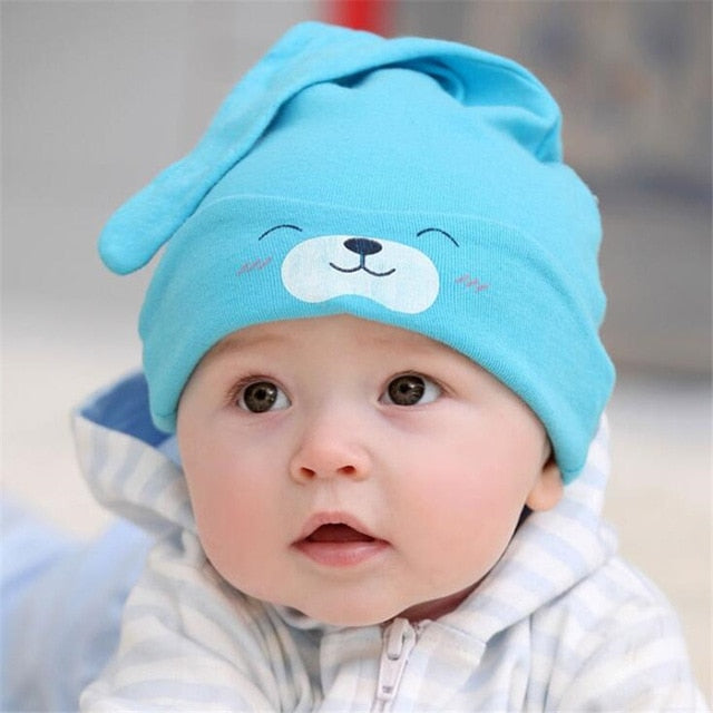 2020 Brand Baby Cap Cartoon Animal Double Printting Cotton Knit Beanie Hats For Toddler Boy Girls Spring Autumn Winter Headwear