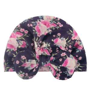 New Donut Baby Beanie Turban Hat Baby Cap Cotton Fruit Print Floral Toddler Baby Girl Cap Infant Accessories 1PC
