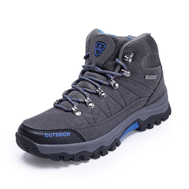 Men climbing Shoes Waterproof Male Outdoor Sports Tourism Climbing Shoes Leather Climbing Mountain Shoes Hunting Boots Sneakers