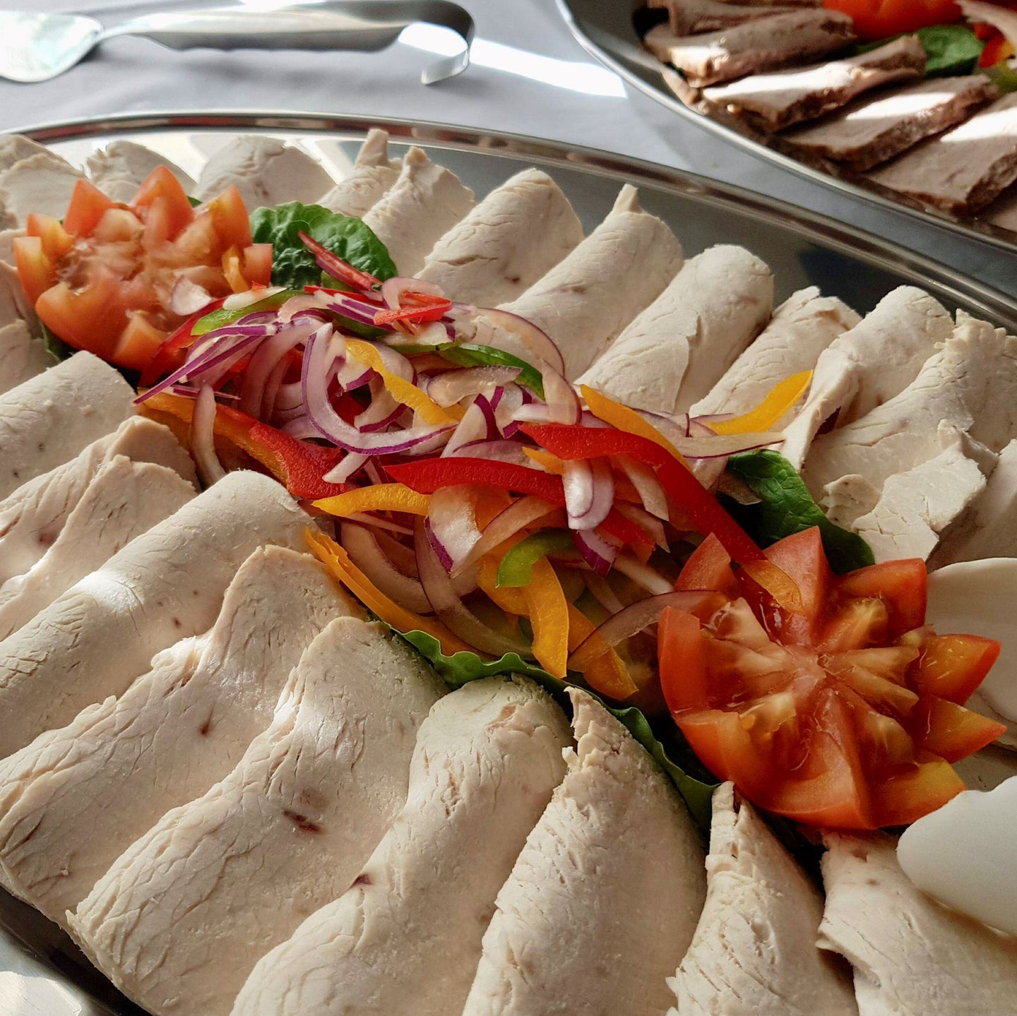 Tray of Turkey Slices