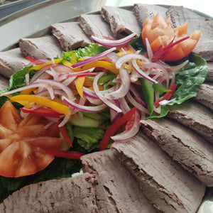 Tray of Roast Beef Slices