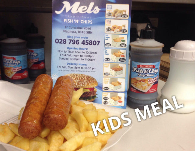 KIDS SAUSAGES & CHIPS