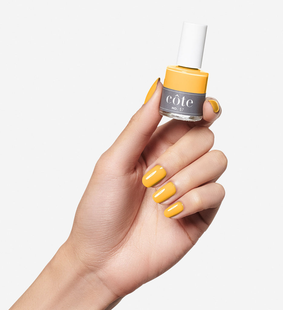No. 57 dandelion yellow cream nail polish