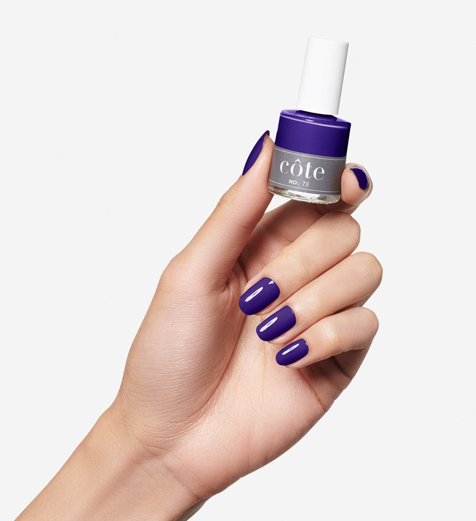No. 78 Dark No. 78 Eggplant Dark Purple Nail Polish - Non Toxic Nail Polish - Hands Purple Cream Nail Polish