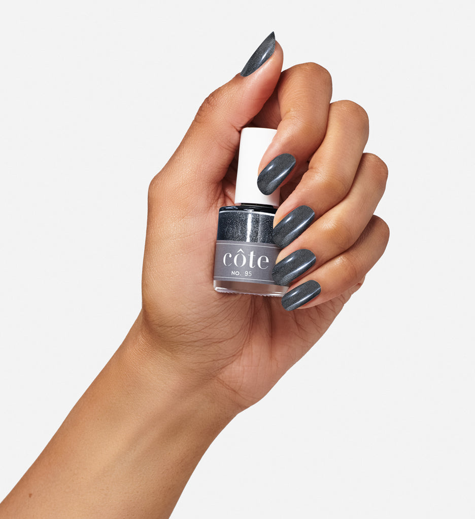No.95 shimmery slate grey nail polish