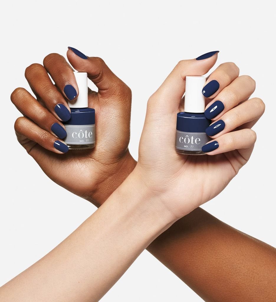 No. 77 midnight blue cream nail polish