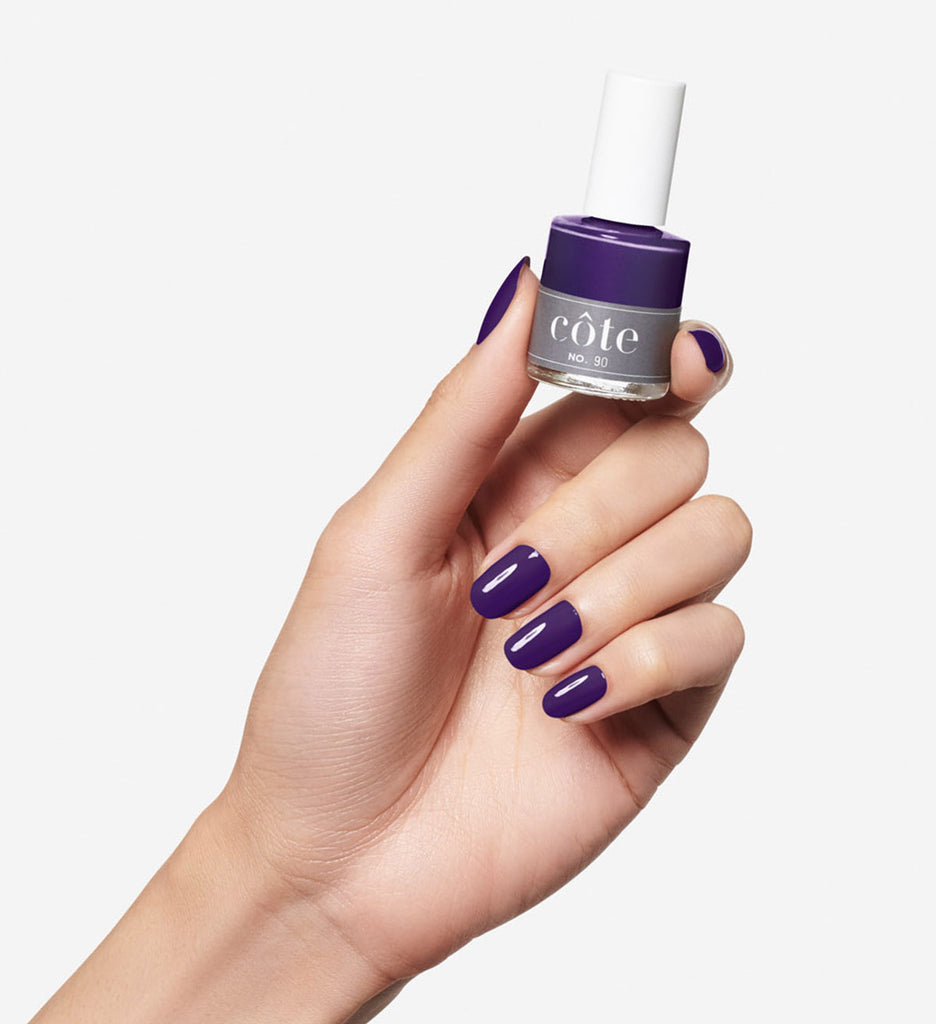 No. 90 Classic Purple Nail Polish - Non Toxic Nail Polish - hand