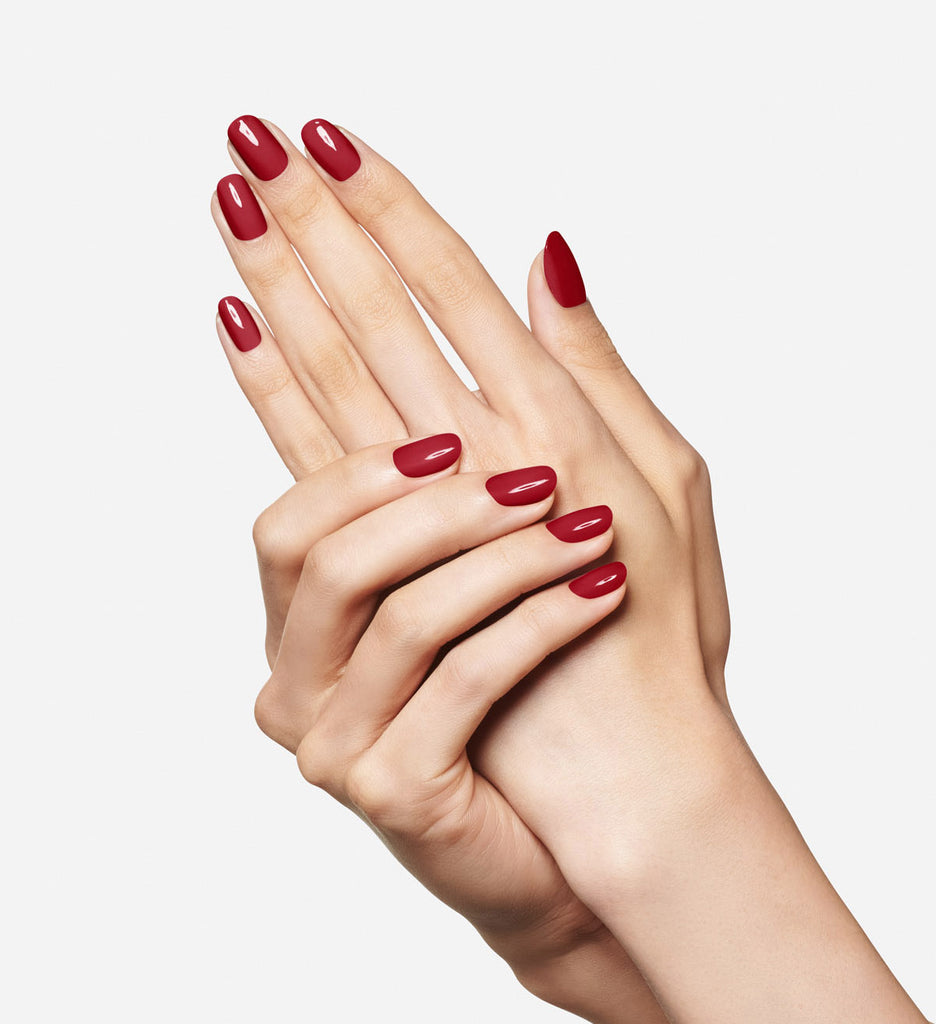 No. 32 Classic Red Nail Polish - Vegan Nail Polish -hands
