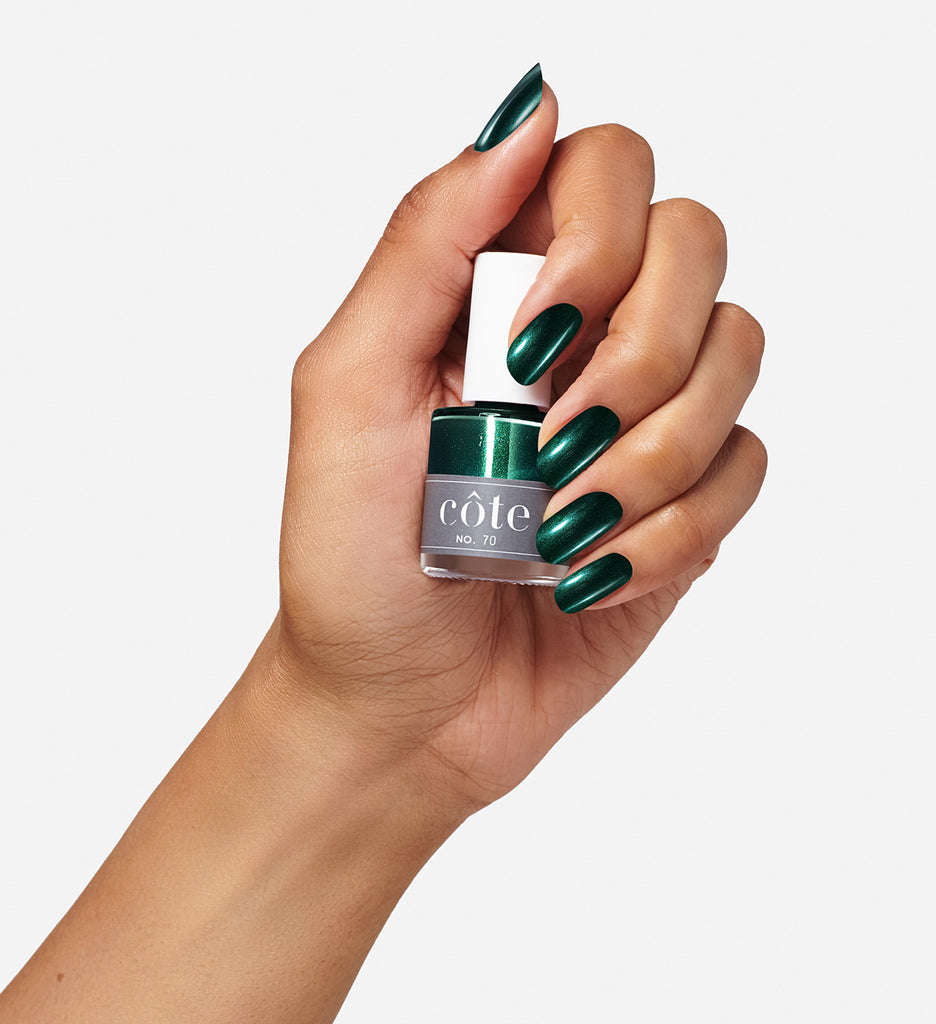 No. 70 ocean green shimmer nail polish