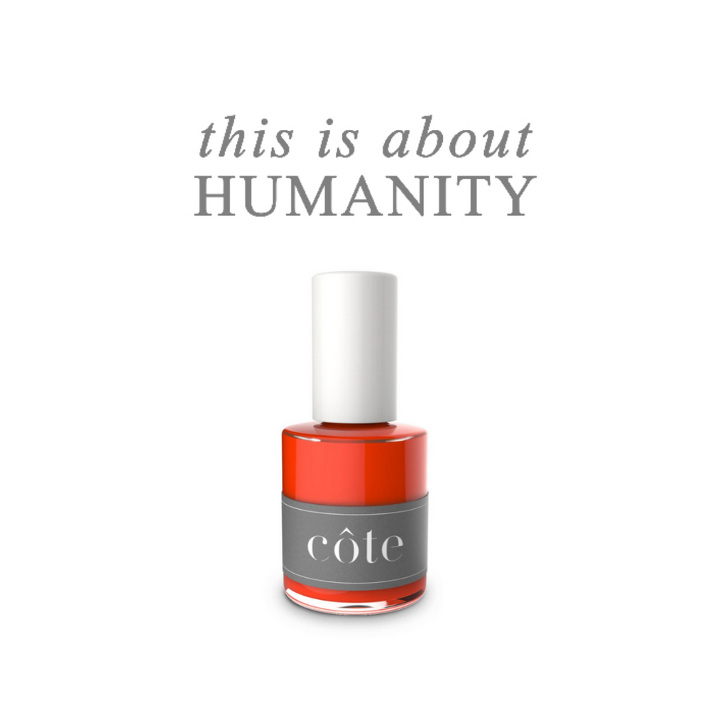 No. 50 Fiery Orange Red Nail Polish - Non Toxic Nail Polish - this is about humanity