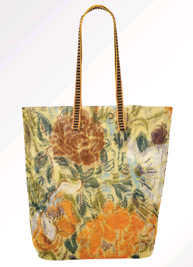 Epice Mesh Tote Bag - Yellow Floral