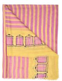 Cabana scarf in yellow and pink