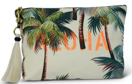 """ALOHA"" Palm Oversized Clutch"