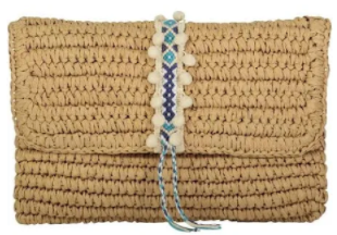 Reese Straw Clutch
