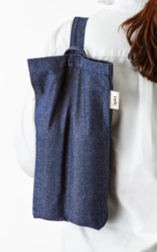 Vin Two Bottle Wine Tote in Denim
