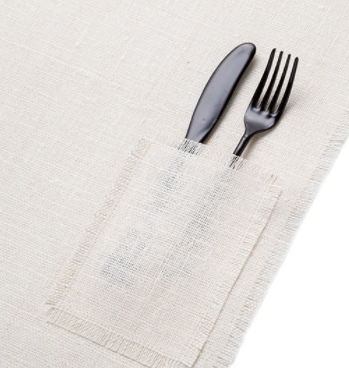 Linen Place Mat With Pocket
