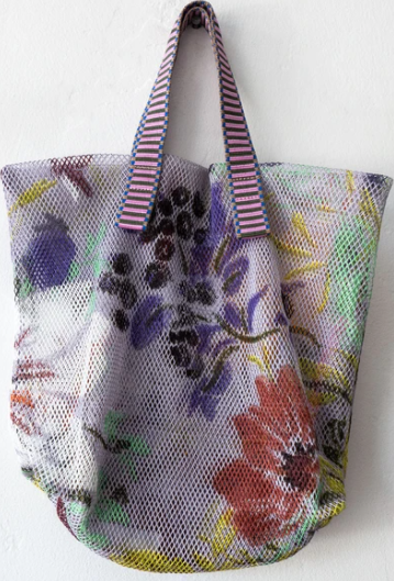 Epice Mesh Tote Bag - Lilac Floral