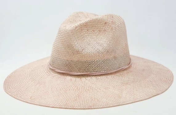Stevie Straw Wide Brim Hat - Blush