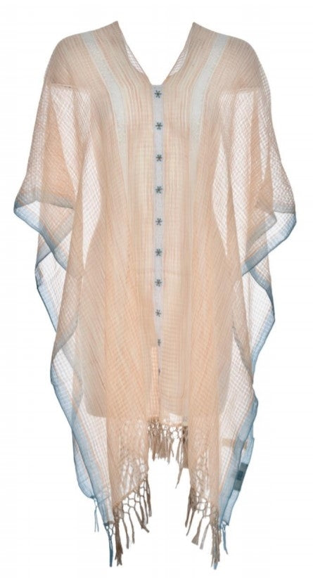 Lace trim caftan