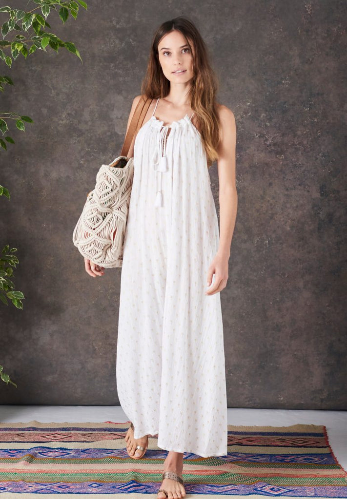 Alohi Palm Maxi - white/gold