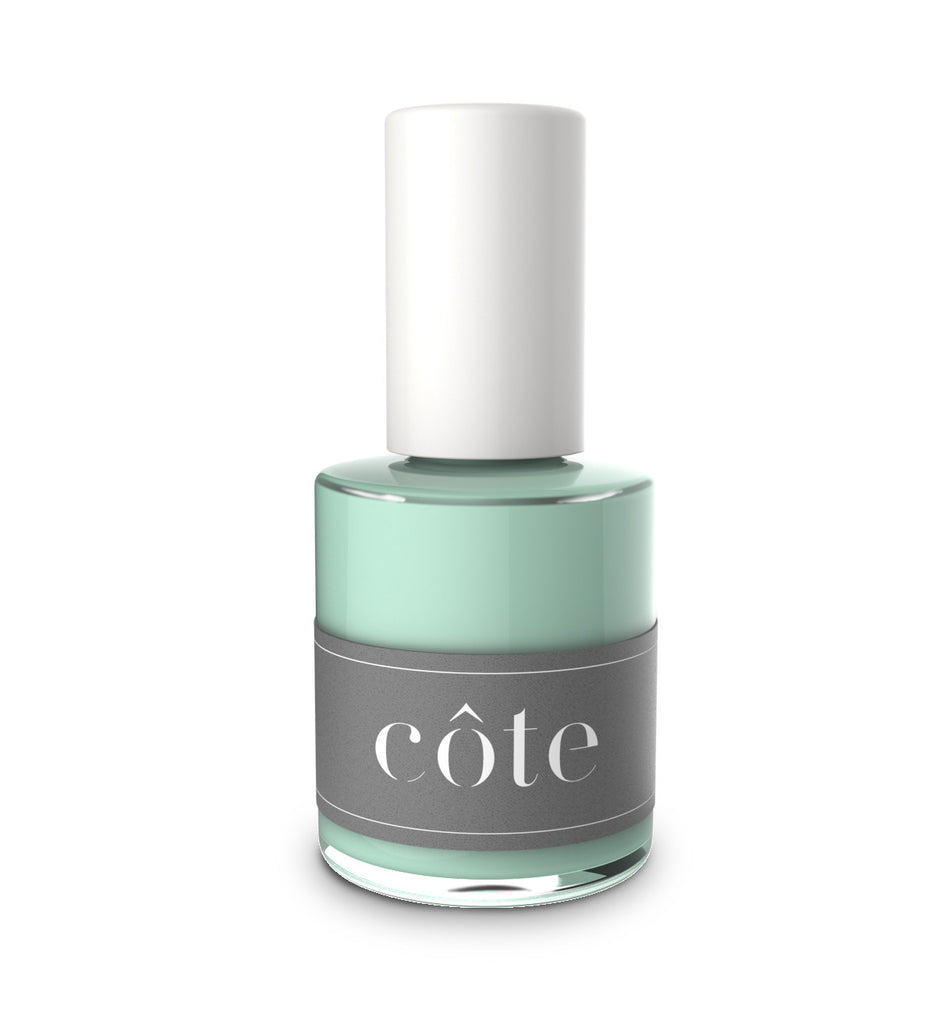 No. 65 heather teal blue cream nail polish