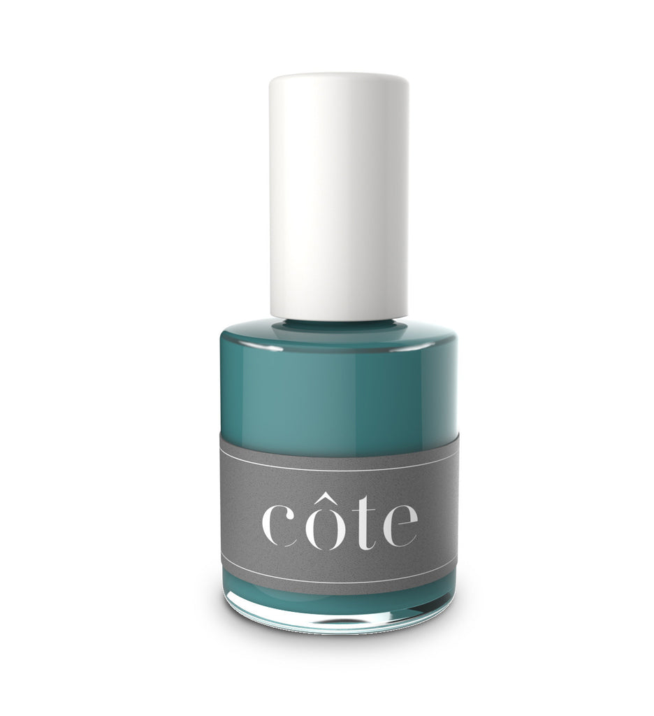 No. 67 true teal blue cream nail polish