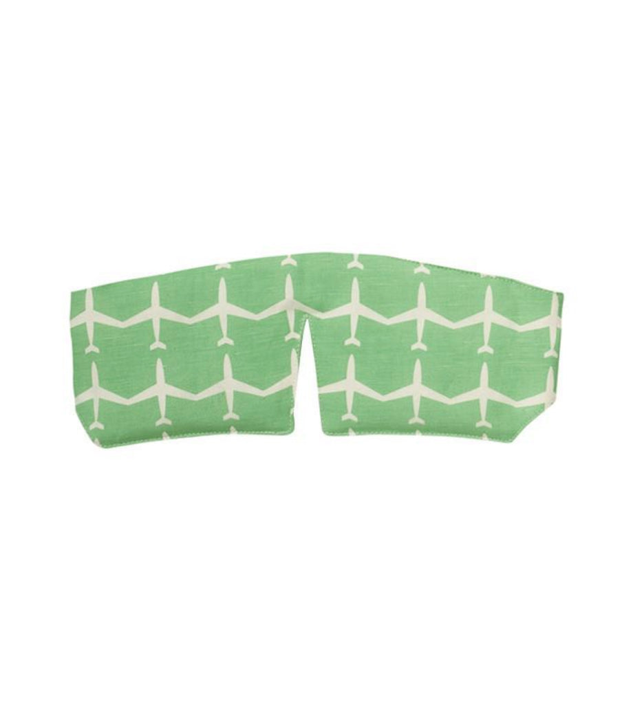 Sleepmask Green Airplanes