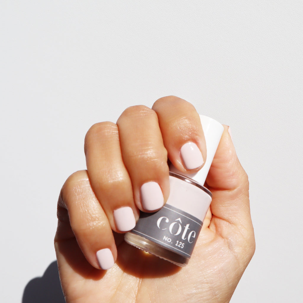 No. 125 Neutral Taupe Nail Polish With Just The Slightest Hint of Pink - Vegan Nail Polish - Hand