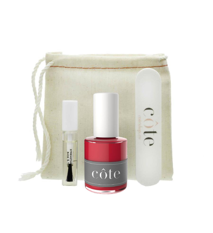 Côte Starter Nail Polish Kit - No. 31 Crimson Red Nail Polish