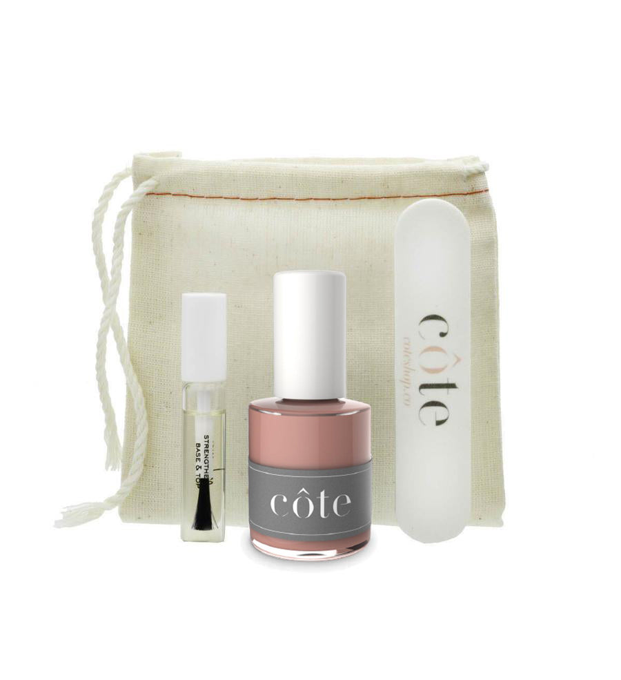 Côte Starter Nail Polish Kit - No. 49 Adobe Clay Brown Nail Polish
