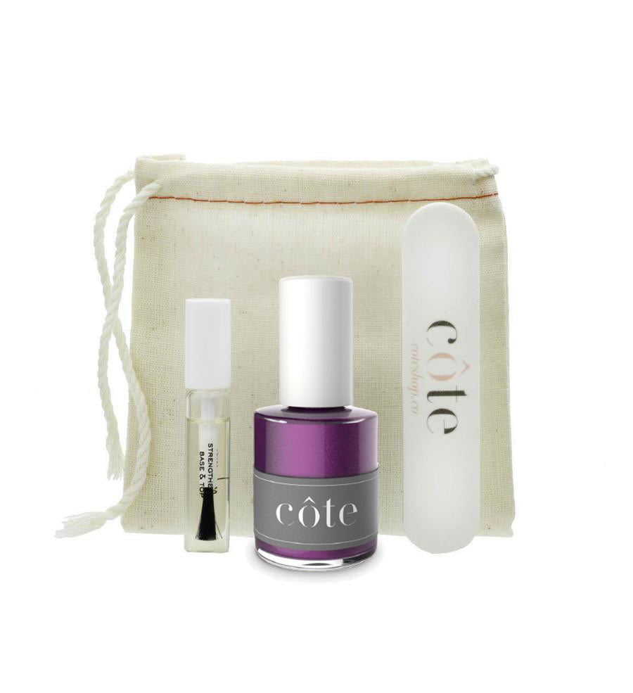 Côte Starter Nail Polish Kit - No. 89 Shimmery Purple Nail Polish