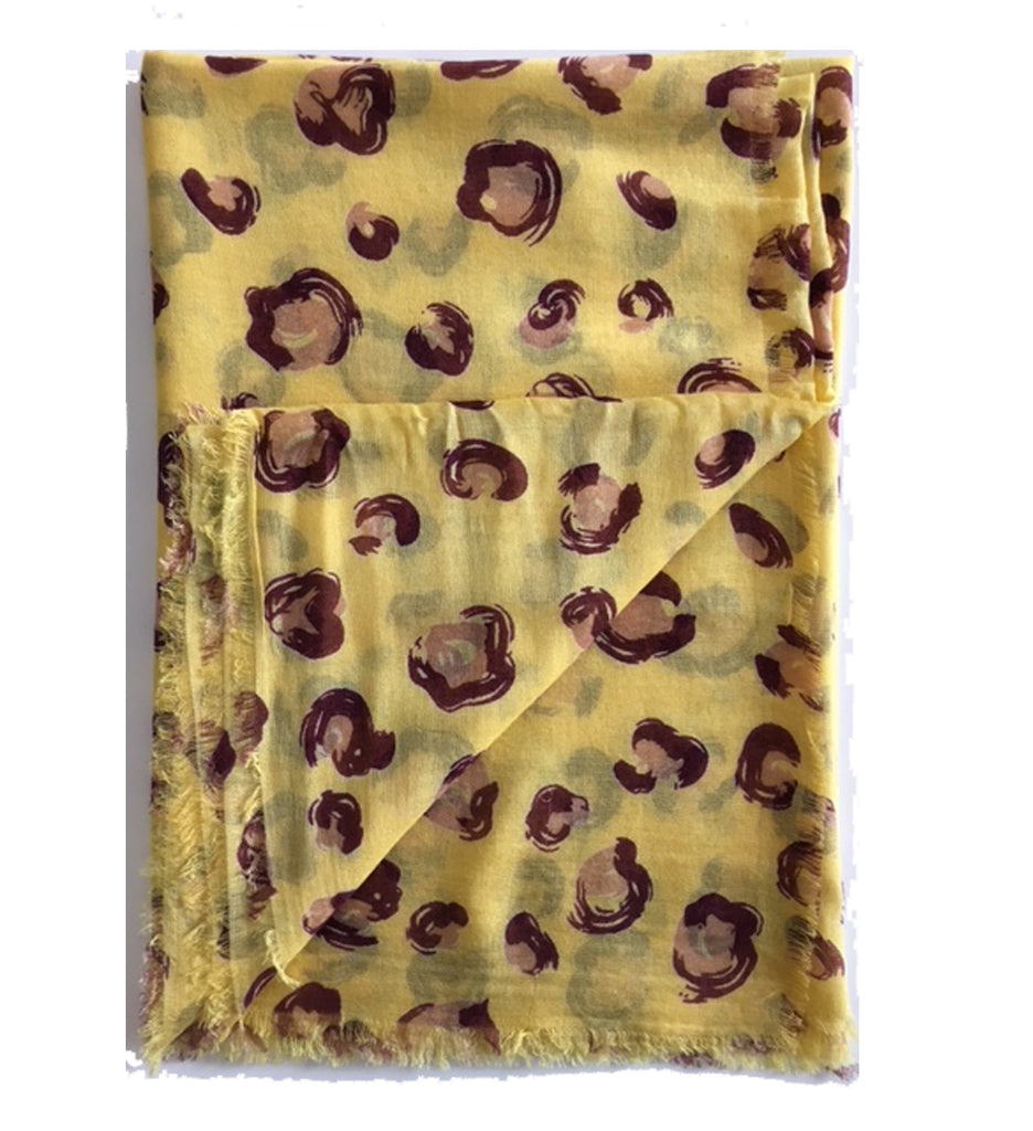 Painted Ocelot - Scarf - Yellow