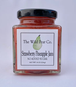 Strawberry Pineapple Jam with No Added Sugar