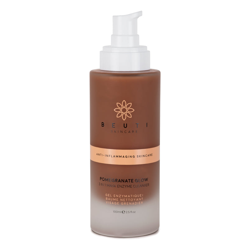 Pomegranate Glow Enzyme Cleanser - facial cleanser with gentle enzymes and nourishing ingredients